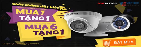 Khuyến mãi mua Camera HIKVISION tặng camera