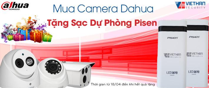 Khuyến mãi Camera Dahua tặng pin sạc dự phòng