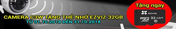 Khuyến mãi Camera EZVIZ tặng thẻ nhớ 32GB