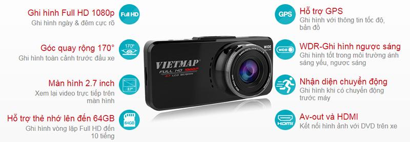 Tính năng nổi bật Camera Vietmap C5