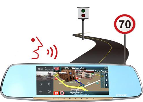 Cảnh báo giới hạn tốc độ camera hành trình vietmap