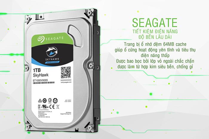 Seagate Skyhawk 1TB tiết kiệm điện năng