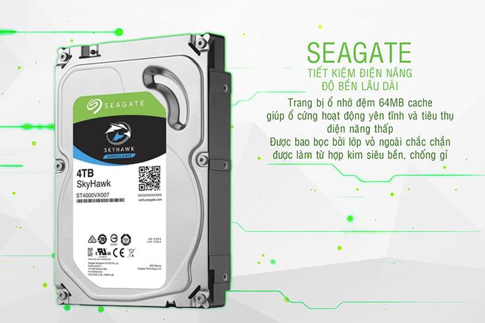 Seagate Skyhawk 4TB tiết kiệm điện năng