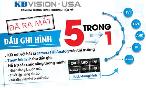 Đầu ghi hình KBVISION KX-7108D6 công nghệ 5 in 1