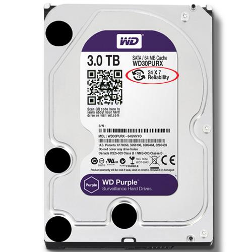 Western Purple HDD 3TB