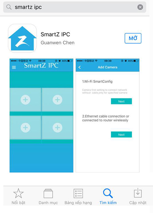 bước 1 cài đặt smartz ipc