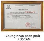 Chứng nhận phân phối Foscam