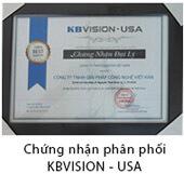 Chứng nhận phân phối KBVISION