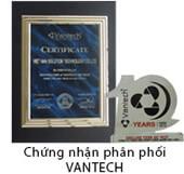 Chứng nhận phân phối Vantech