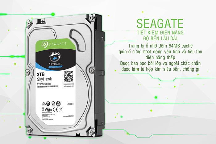 ổ cứng camera seagate skyhawk 3TB tiết kiệm điện năng