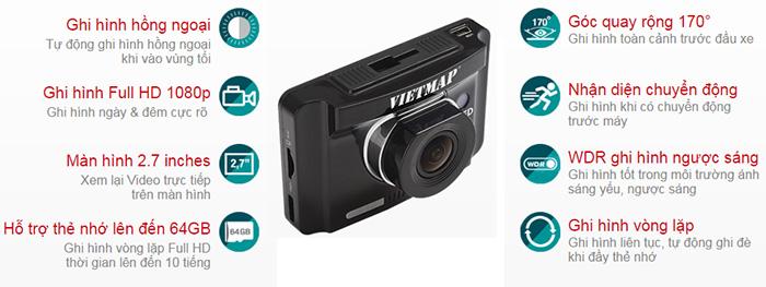 thông số kỹ thuật camera hành trình Vietmap IR22