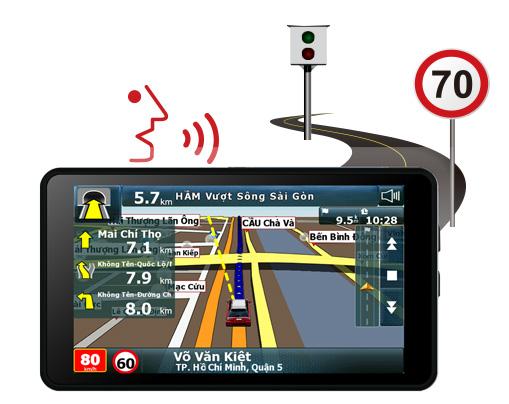 Vietmap A50 có cảnh báo giới hạn tốc độ