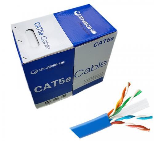Cáp mạng Ensoho Cat5e UTP CCA Vỏ PVC- 04 cặp lõi dây 24AWG/0.51mm giá rẻ