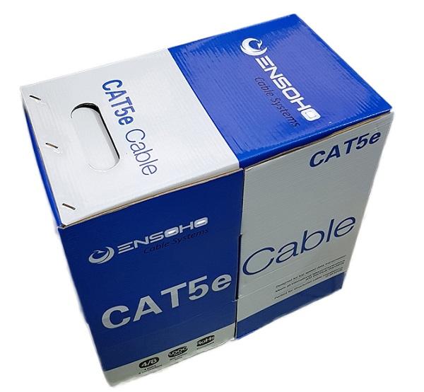 Cáp mạng Ensoho Cat5e UTP CCA Vỏ PVC- 04 cặp lõi dây 24AWG/0.51mm