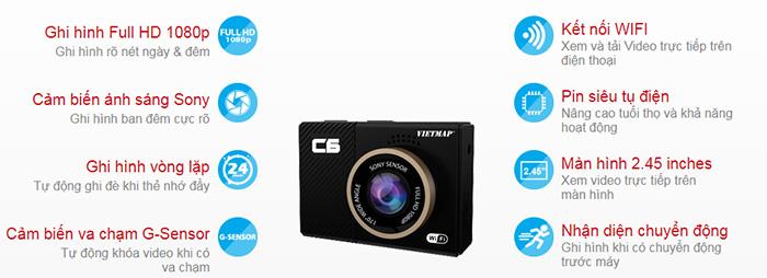 Thông số camera hành trình Vietmap C6