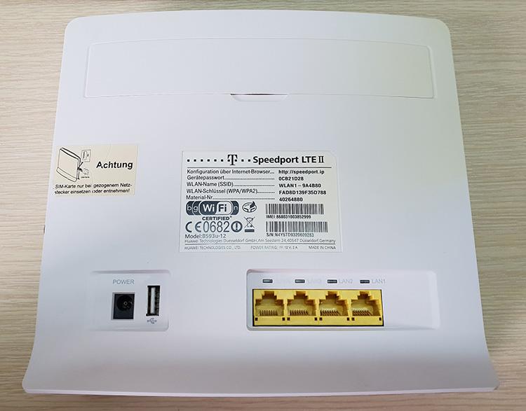 Bộ phát Wifi 4G Huawei B593u-12 mặt sau