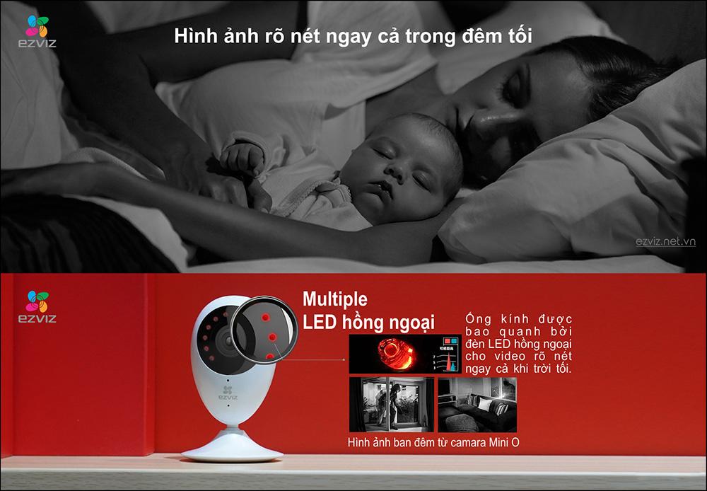 Camera IP Wifi EZVIZ CS-CV206 (C2C 720P) cho hình ảnh rõ nét