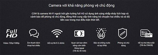 Camera IP Wifi EZVIZ CS-CV310 phòng vệ