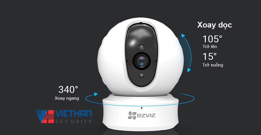 Camera IP Wifi EZVIZ CS-CV246 xoay doc