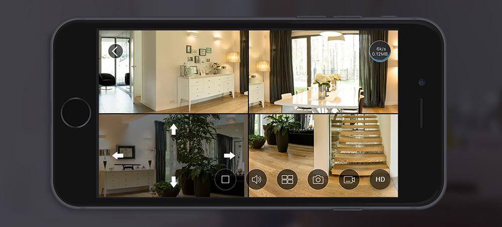 Camera EZVIZ CS-CV346-A0-7A3WFR Mini Pano chia 4 khung hình