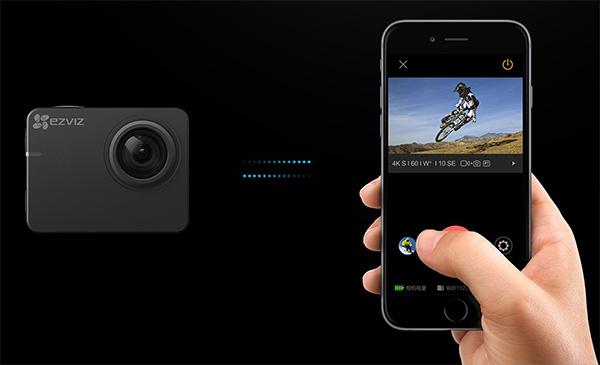 chức năng wifi camera hành trình Ezviz s2