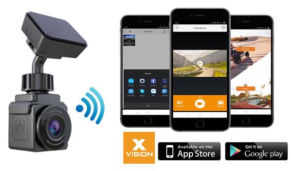 Camera hành trình Vietmap xplore c2 kết nối wifi