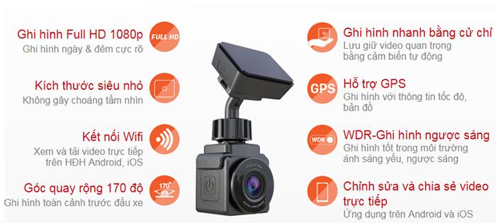 thông số tính năng camera hành trình vietmap C2