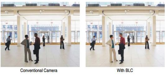 Camera HAC-HFW1400TLP-A có chức năng Backlight Compensation (BLC) hỗ trợ nhìn ngược sáng tự động điều chỉnh