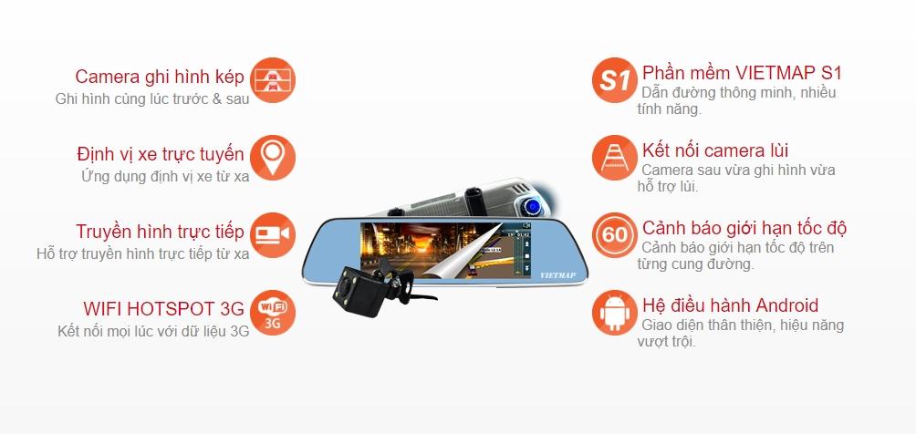 Tính năng camera hành trình Vietmap iDRV P1