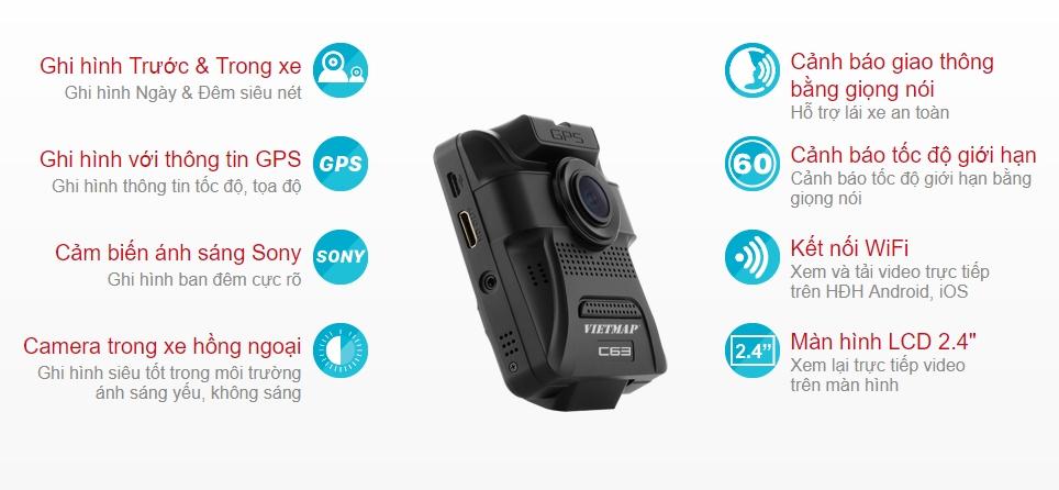Tính năng camera hành trình Vietmap C63