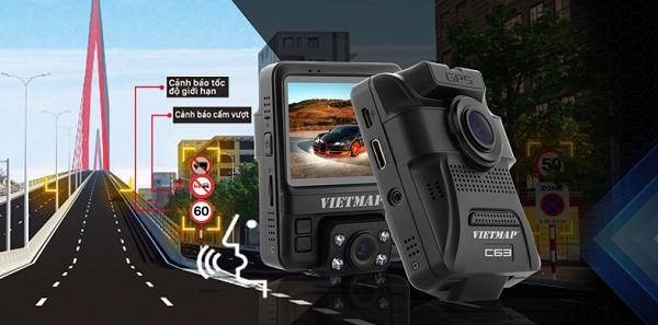 Camera hành trình VIETMAP C63 Cảnh Báo Biển Giao Thông Bằng Giọng Nói