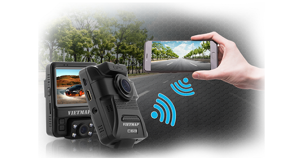Camera hành trình VIETMAP C63 kết nối wifi
