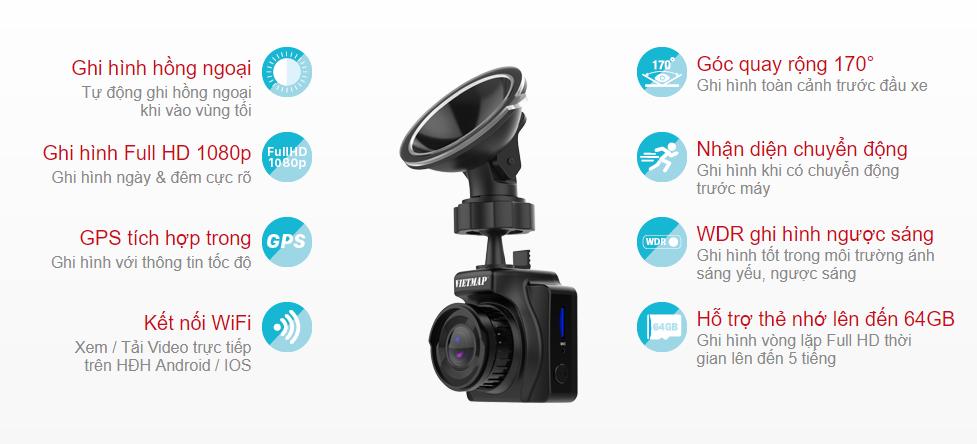 Tính năng camera hành trình Vietmap IR23