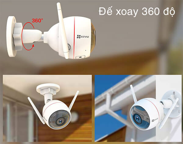 Camera EZVIZ C3W CS-CV310 xoay 360 độ