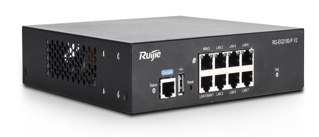 Thiết bị mạng HUB Switch Gateway Ruijie RG-EG2100-P V2 chuyên dụng cho các cửa hàng, siêu thị giá rẻ