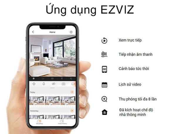 Camera EZVIZ C6N ứng dụng