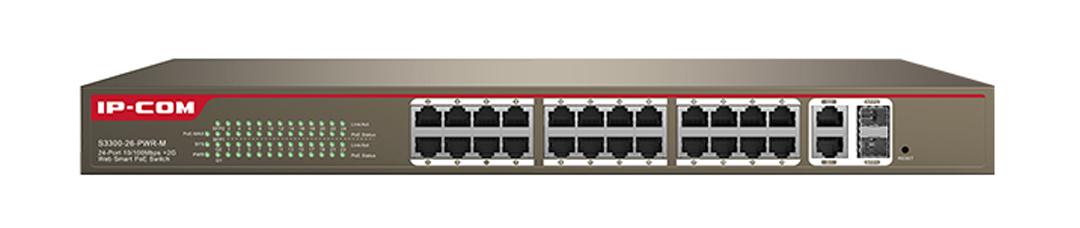 Thiết bị mạng HUB -SWITCH IPCOM POE S3300-26-PWR-M