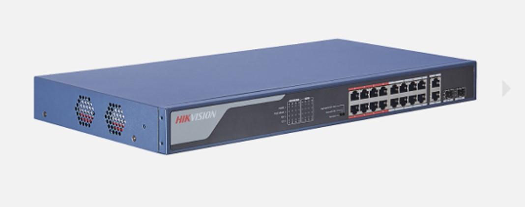 Thiết bị mạng HUB -SWITCH PoE HIKVISION DS-3E0318P-E(B) chính hãng