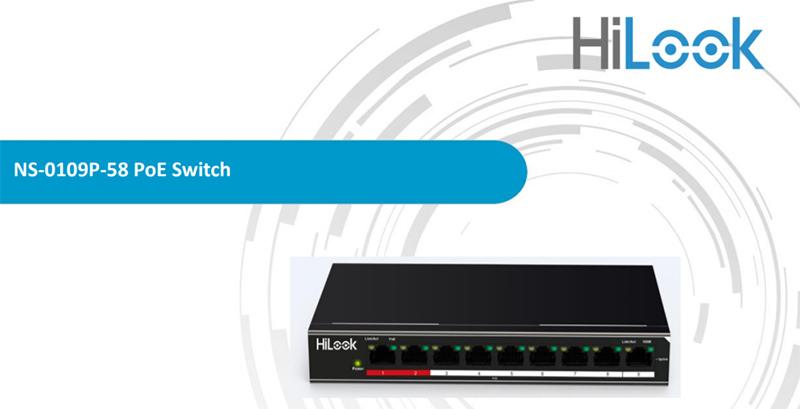 Thiết bị mạng HUB-SWITCH HILOOK NS-0109P-58 (9 cổng) chinhs hangx