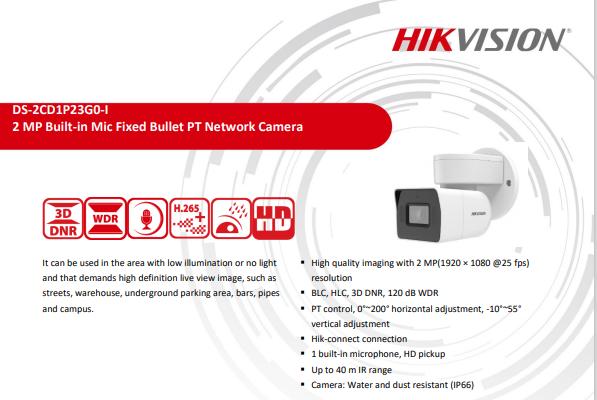 Camera quan sát IP HIKIVISION DS-2CD1P23GO-I