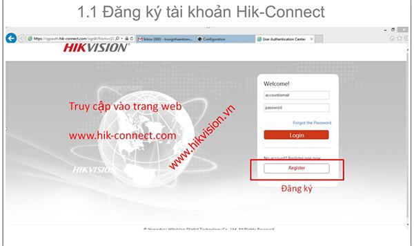 Đăng ký và sử dụng dịch vụ HIK-Connect Domain bằng trình duyệt