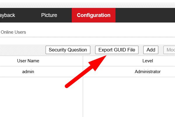 cách khôi phục mật khẩu trên đầu ghi camera Hikvision-3