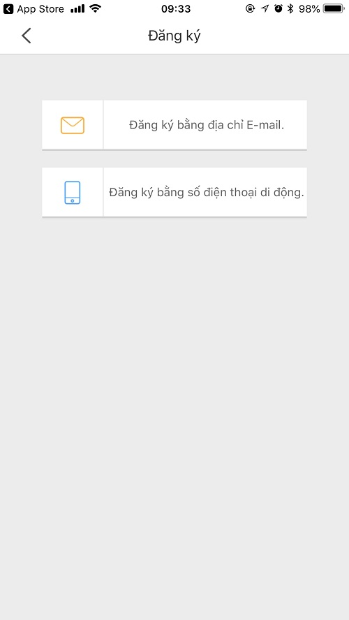 đăng ký tài khoản camera ezviz xem trên điện thoại