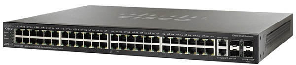 Switch Cisco SF500-48-K9-G5 48-port 10/100 + 4-Port Gigabit Stackable Managed Switches