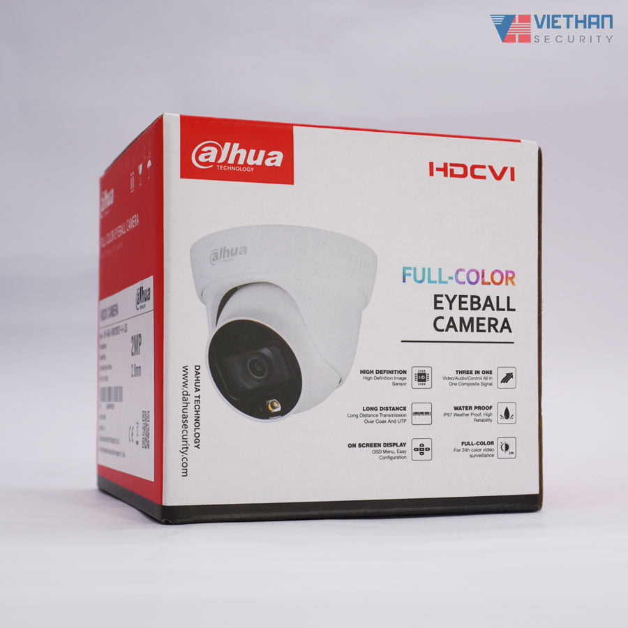 Camera Dahua HAC-HDW1239TLP-A-LED Lite Plus FULL-COLOR 2.0 Megapixel, có mic ghi âm