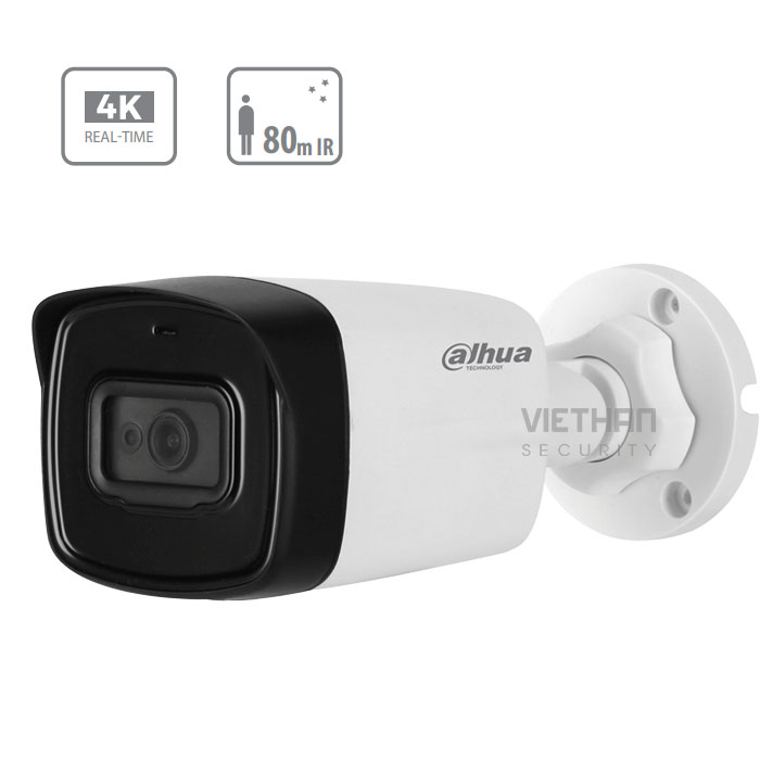 Camera Dahua HAC-HFW1800TLP 8.0 Megapixel, IR 80m, F3.6mm, Camera 4 in 1