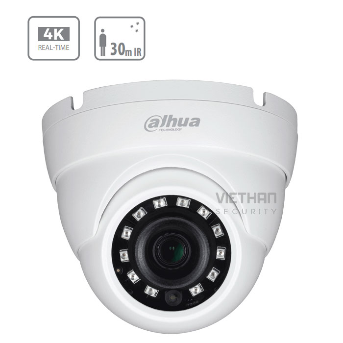 Camera Dahua HAC-HDW1800MP 8.0 Megapixel, Hồng ngoại 30m, F3.6mm, Camera 4 in 1