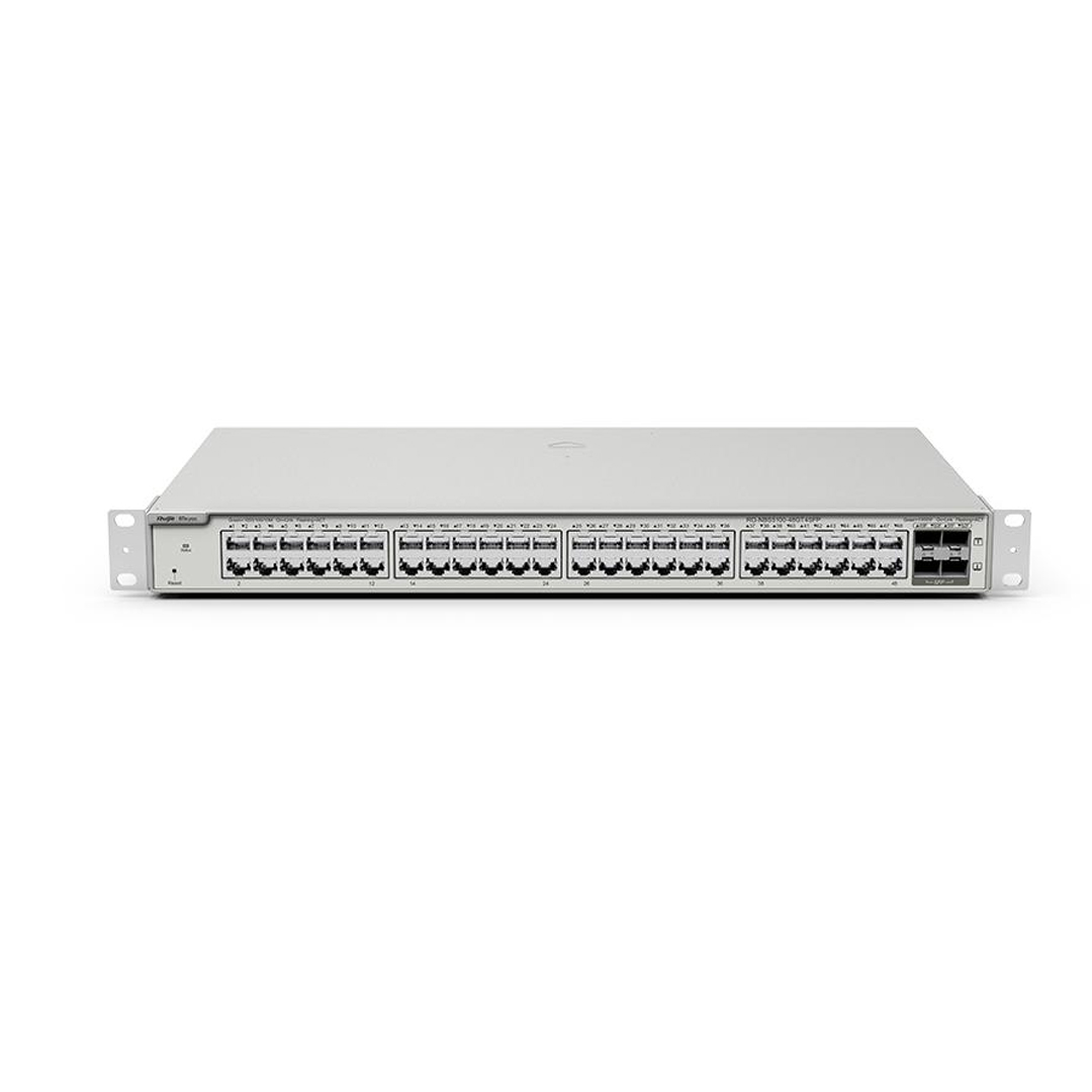 Thiết bị mạng HUB -SWITCH Ruijie RG-NBS5200-48GT4XS ( 48-Port 10G L2+ Managed Switch, 48 Gigabit RJ45 Ports, 4 *10G SFP+ Slots,19-inch Rack-mountable Steel Case, Static Routing )